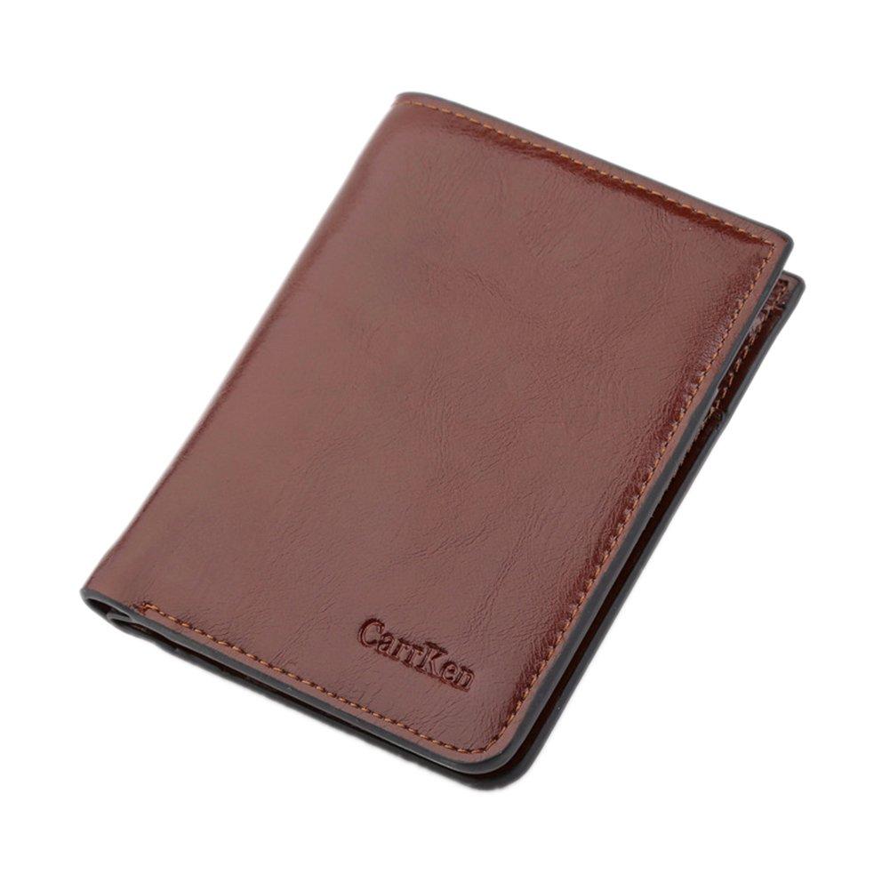 angel3292 Clearance Deals !!Men Faux Leather Folded Zipper Short Wallet Business Coin Cards Cash Slots Purse