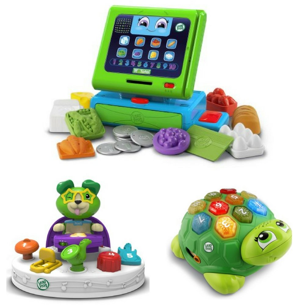 LeapFrog Count Along Cash Register, Scout's Count & Colors Band, Melody The Musical Turtle, Shopping Game, Counting for Kids, Toys to Teach Numbers, Colors, Kid Development, Realistic Play Toys