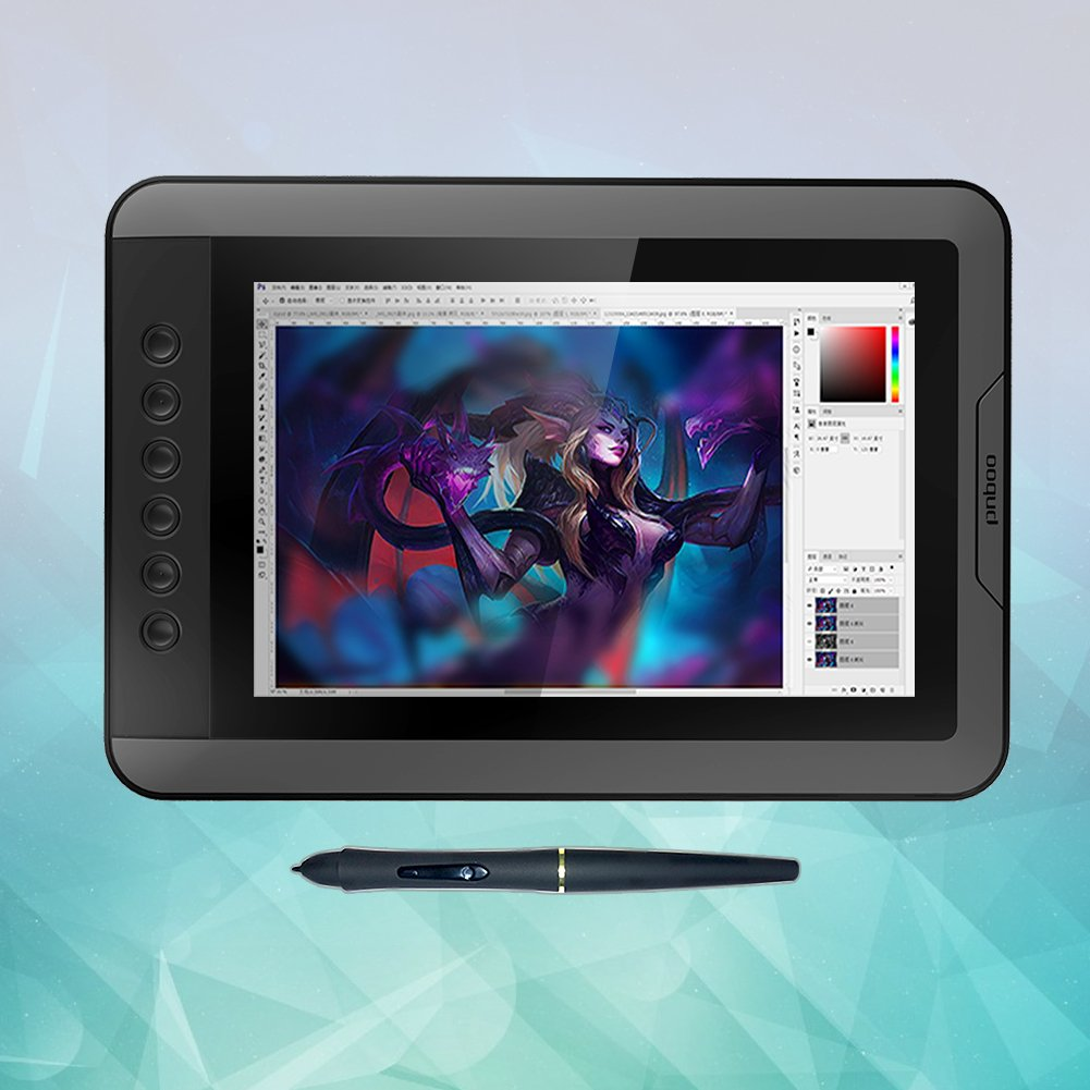PNBOO PN10 10.1 Inch IPS Graphics Drawing Monitor with Battery-free Passive Pen(Black) by PNBOO (Image #1)