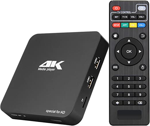 WFGZQ Android TV Box, Smart TV Box 1GB de Memoria 8GB 3D 3D ROM 4K Ultra HD Quad-Core Allwinner H3 1G / 8G 2.4Gwifi Reproductor Multimedia: Amazon.es: Hogar