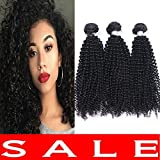 Imayli 7A Brazilian Kinky Curly Virgin Hair 3 Bundles Unprocessed Brazilian Virgin Human Hair Natural Color(14″ 14″ 14″ INCHS) Review