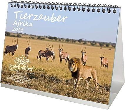 Calendrier de table africain magique pour 2021 animaux différents