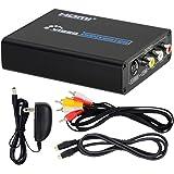 DATACE HDMI to S端子/コンポジット変換コンバーター 1080P対応 hdmi アナログ変換器 HDMI コンポジット変換 hdmi Sビデオ変換 hdmi rca変換 hdmi avコンバーター AV/S-Videoケーブル付属