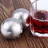Showking Stainless Steel Ice Balls Whisky Stones Whiskey Ice Cubes 2pcs