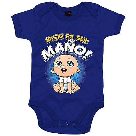 Body bebé nacido para ser Maño Zaragoza fútbol - Azul Royal ...
