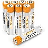 単4形 充電池 1100mAh 約1200回循環使用可能 ニッケル水素電池 NI-MH 1.2V バッテリー 8本セット TYBATT