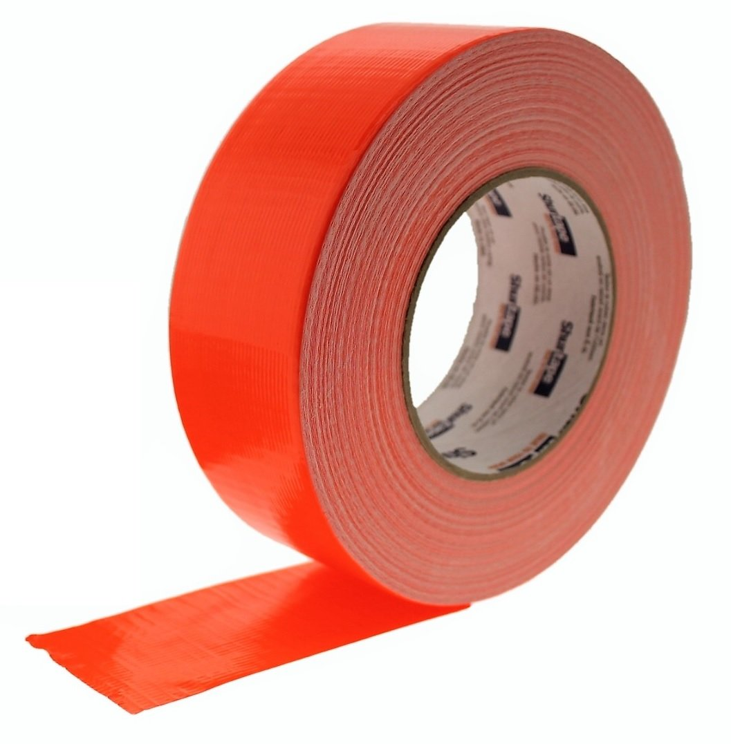 1 Roll PC-600 Shurtape 2'' Burnt Orange Tangerine 9 Mil Cloth Duct Tape Waterproof Hand Tearable UV Resistant High Visibility Industrial Grade Heavy Duty Pro Colored Duct Tape Colors USA Made 60yd