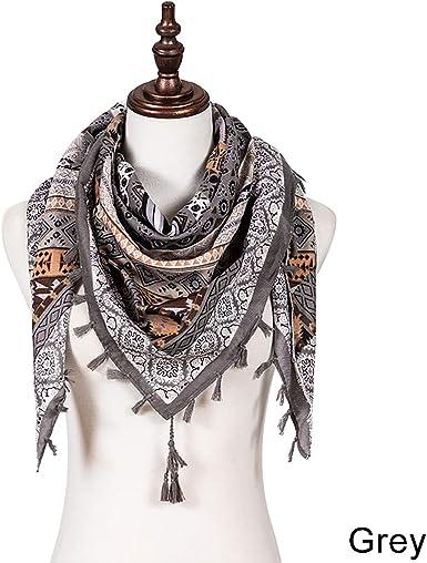 Dark Area - Pañuelo boho para mujer, bohemia, algodón, bufandas ...