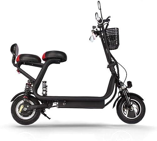 QIONGS Las Bicicletas eléctricas de Dos Ruedas Plegable Bicicleta ...