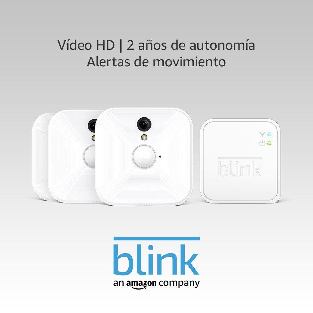 Blink Sistema de cámaras de seguridad para interiores con detección de movimiento, vídeo HD, 2 años de autonomía y almacenamiento en el Cloud - 3 cámaras: ...