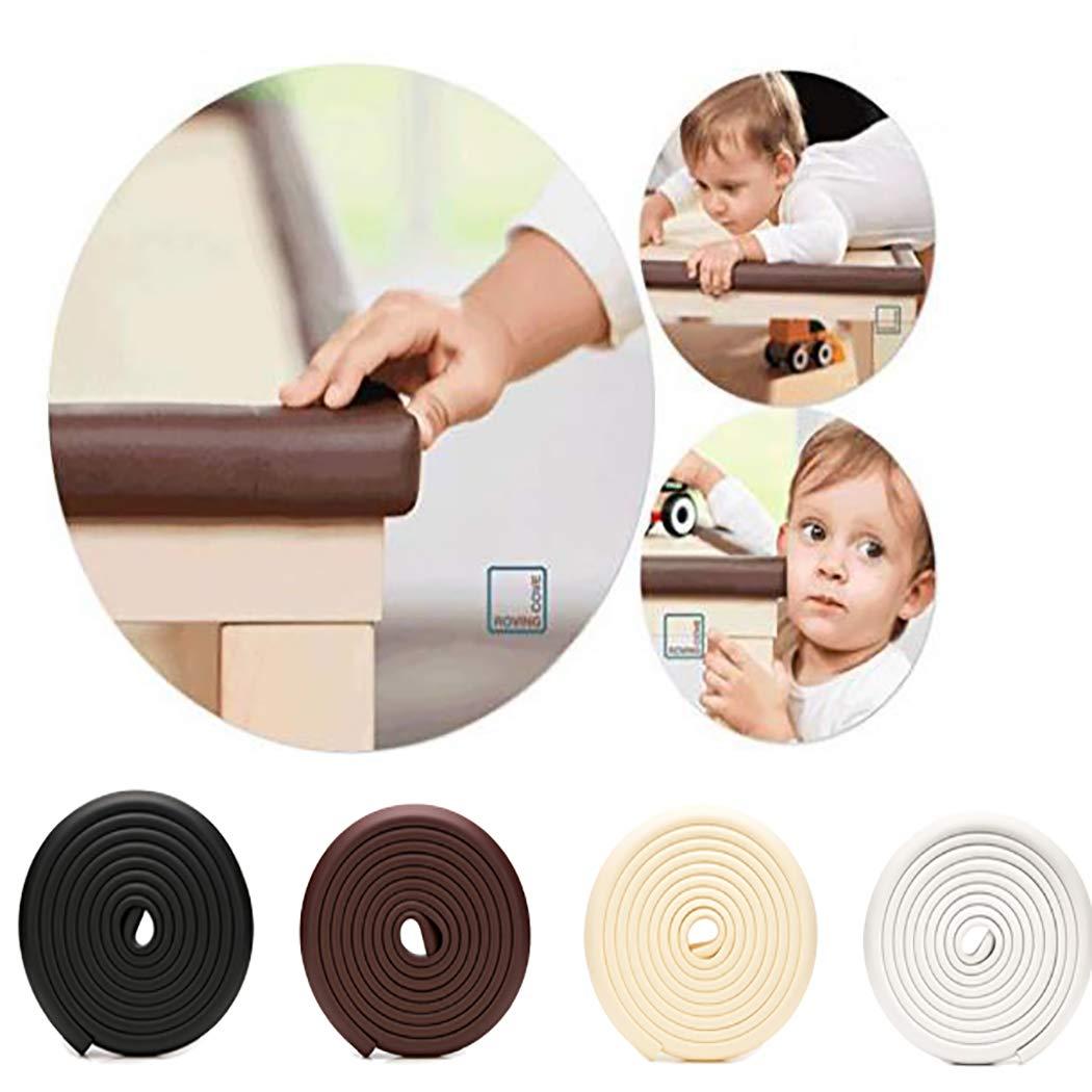 Baby Proofing Edge & Corner Guards Safe Edge & Corner Cushion, 16.4 ft Edge + 8 Corners Child Safety Furniture Bumper (Beige)