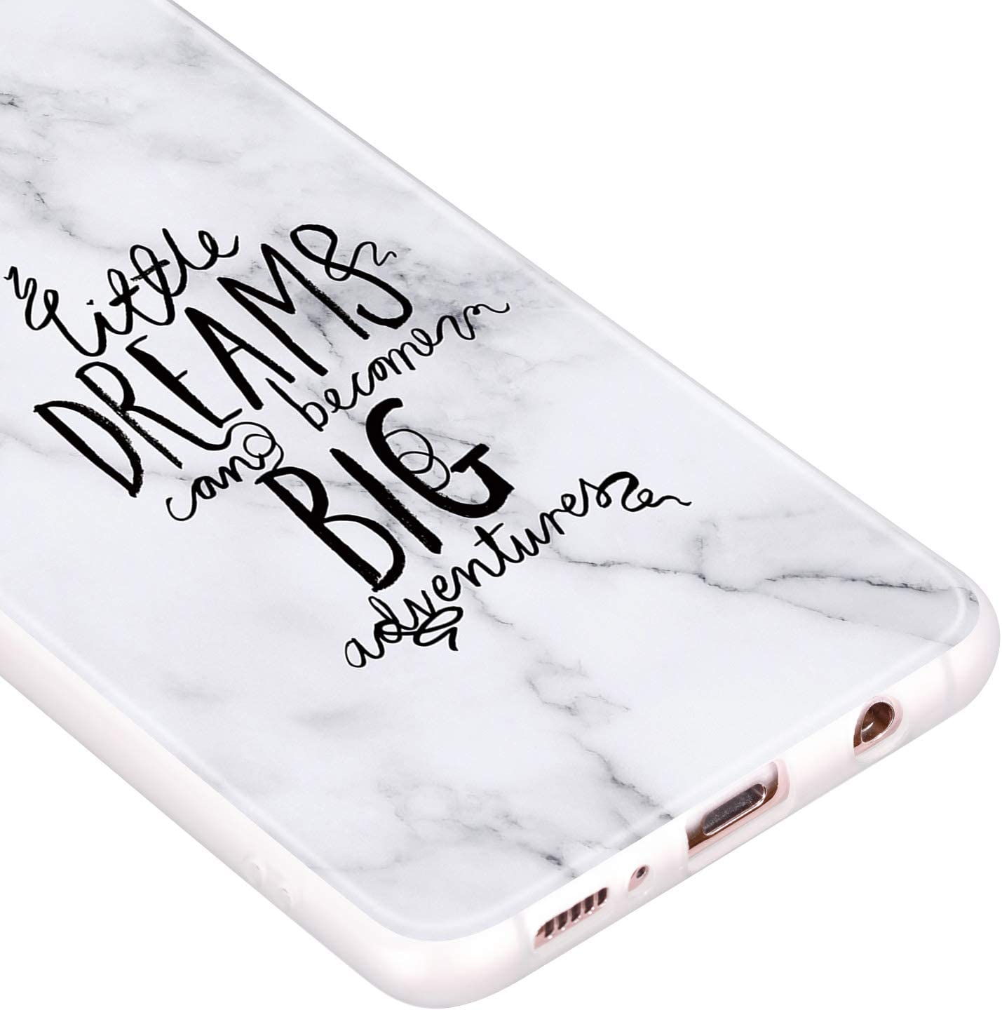 Mandala SEEYA Phone Cases for Samsung Galaxy A51 Marble White Silicone Case Soft TPU Rubber Bumper Cover Opaque Semi-Transparent Slim Fit Flexible Shockproof Sleeve Shell for Samsung Galaxy A51