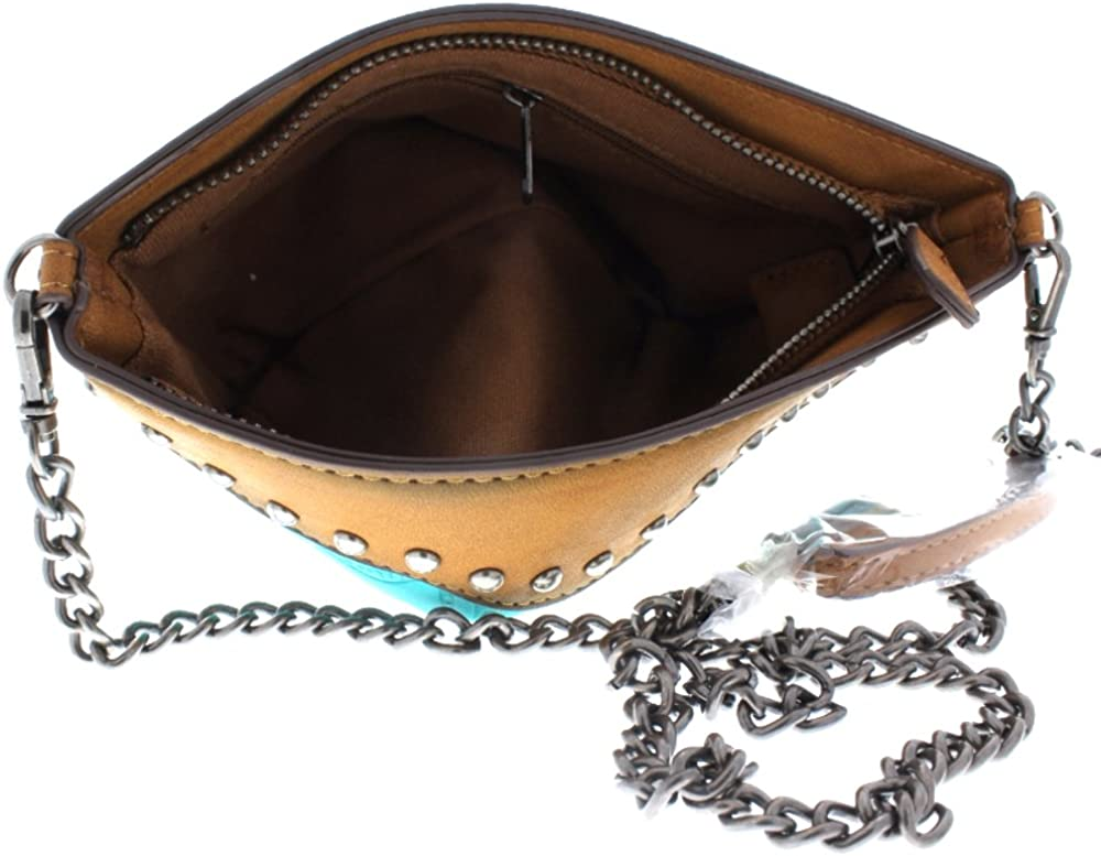 Faux Leather Tooled with studd accents Small Cross Body Purse Handbag