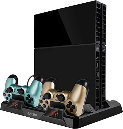 Zacro Soporte Vertical PS4 Pro/PS4 Slim/PS4 Ventilador ...
