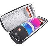 Gubest For JBL Pulse 3 キャリングケース 収納ポーチバッグ 収納バッグ EVA Bluetoothスピーカー保護ケースポータブル 専用のケース (ブラック+グレーの内側)