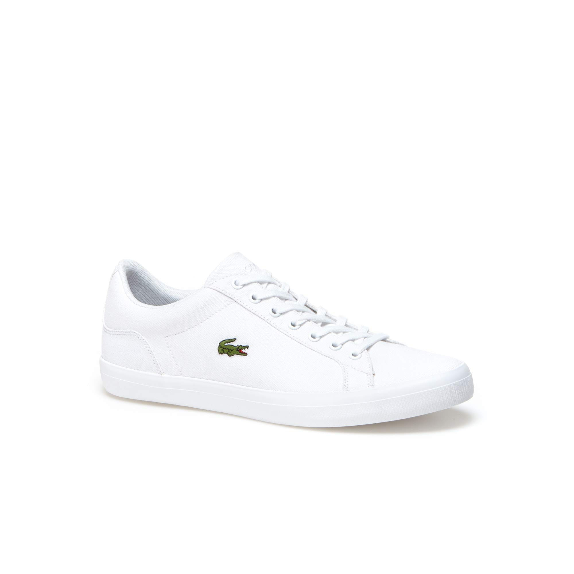 Lacoste Mens Lerond BL 2 Canvas Lace Up Trainer White