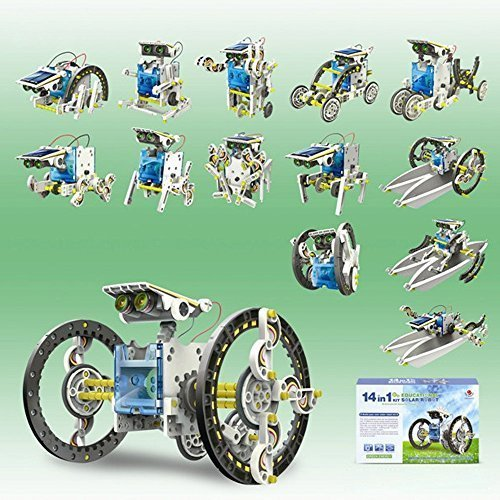 14-in-1 Solar Power Robot Kit Educational Toy for Kids by momushop (14 In 1 Solar Robot Kit)