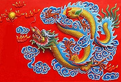 Amazoncom Leowefowa 5x3ft Chinese Dragon Backdrop China