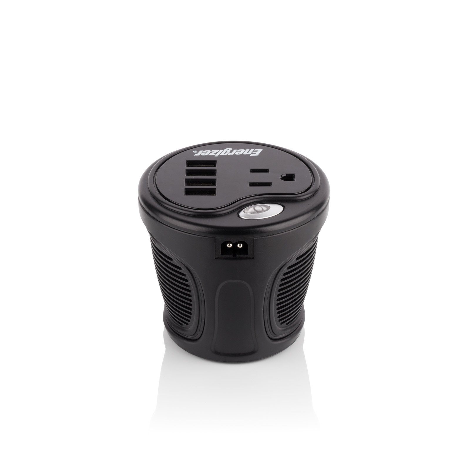 ENERGIZER 120W Cup Inverter 12V DC cigarette lighter to 120V AC to power laptop notebook & more w/4 USB ports 2.1A shared compatible with iPad & more by Energizer (Image #4)