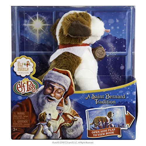 Elf on the Shelf Pets: A St. Bernard Tradition Plush (Naughty Santa Helper Outfits)
