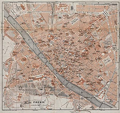 FIRENZE FLORENCE Antique Town City Plan Piano Urbanistico. Italy Mappa    1913   Old Map