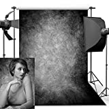 ANVOT Photography Backdrop, 5x7 ft Retro Art Black Grey Portrait Backdrop For Studio Props Photo Backdrop