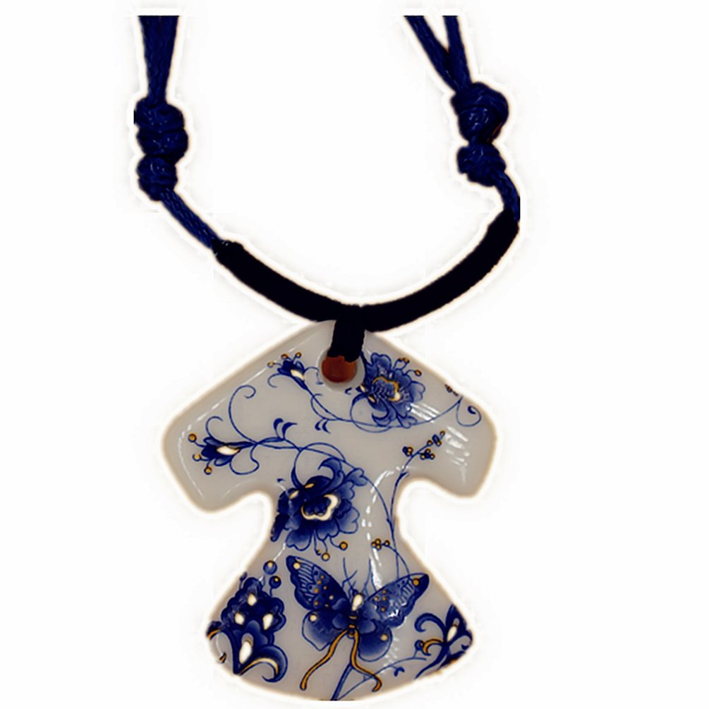 Barry Hand Knitting Blue /& White Porcelain Collar Necklaces006
