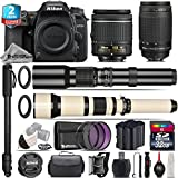 Holiday Saving Bundle for D7500 DSLR Camera + 650-1300mm Telephoto Lens + 70-300mm G Lens + AF-P 18-55mm + 500mm Telephoto Lens + 2yr Extended Warranty + 32GB Class 10 Memory - International Version