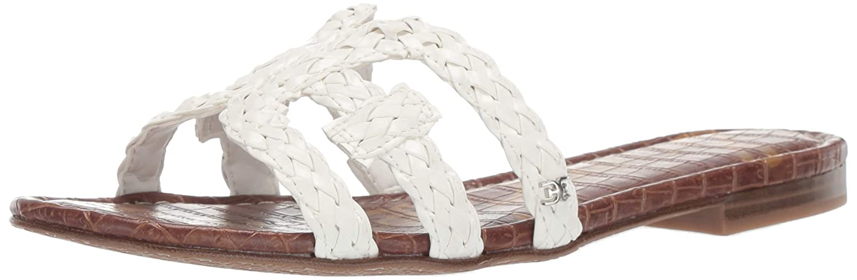 Bright White Sam Edelman Womens Beckie Slide Sandal
