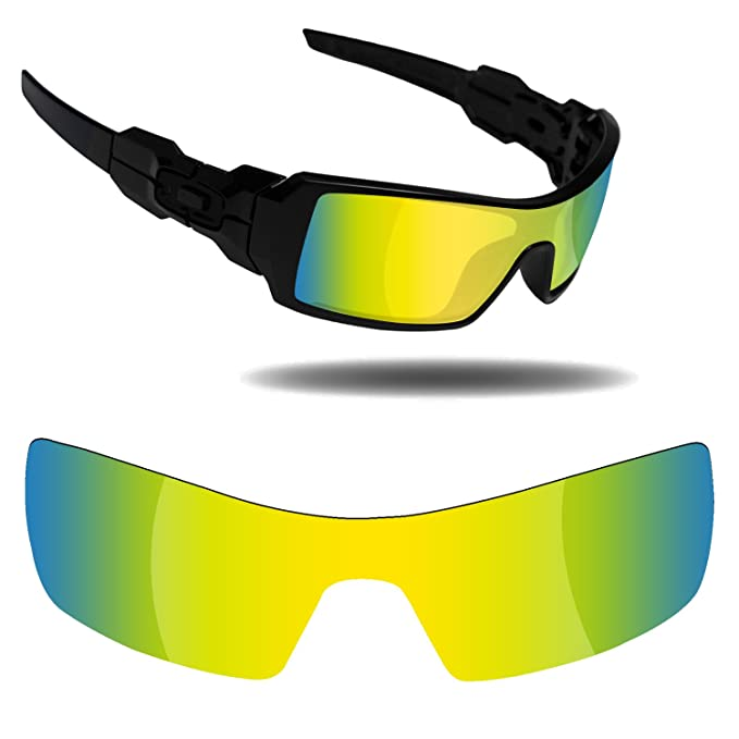 8ee688e0f3 Image Unavailable. Image not available for. Color  Fiskr Anti-Saltwater Replacement  Lenses for Oakley Oil Rig Sunglasses ...