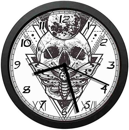 BCWAYGOD Reloj de Pared con diseño de Calavera de la Muerte y la ...