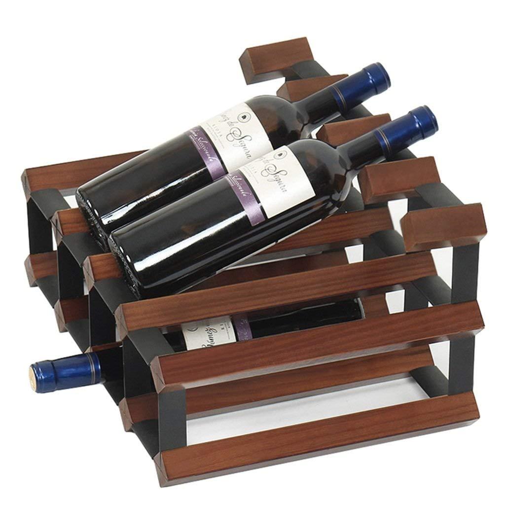 SZPZC Free Standing Wine Rack Wine Bottle Wooden Barrel 6 Bottles Hanging 5 Wine Glasses Cabinet Bottle Holder Storage Stand Organiser Countertop Decoration Shelf for Home Bar Fully Assembled 42x30x23 by SZPZC