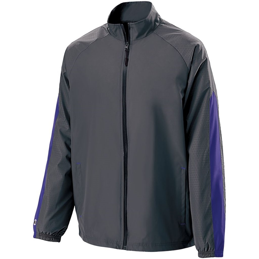 Holloway Youth Bionic Jacket (Small, Carbon/Purple) by Holloway