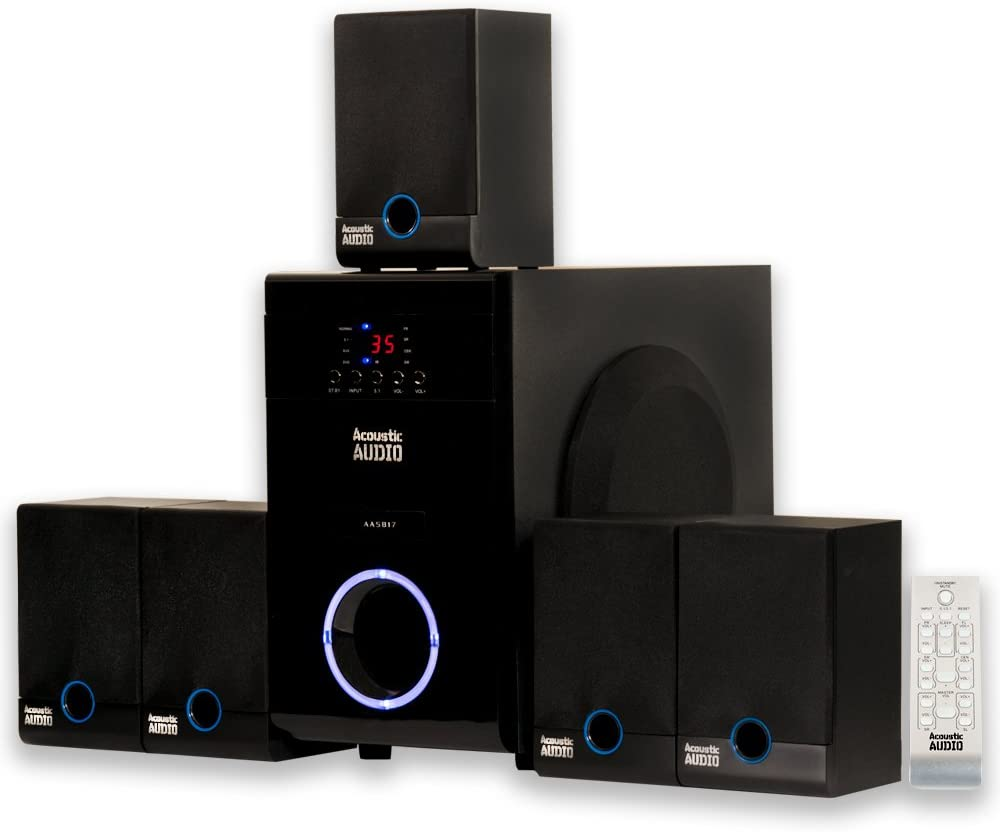 Acoustic Audio AA5817 5.1 Surround Sound Home Entertainment System