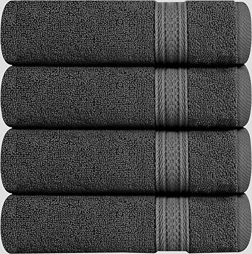 Utopia Towels Cotton Hand Towels, 4 Pack Towels, 700 GSM, Grey