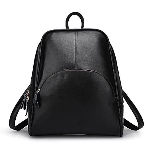 Amazon.com: VANCOO Womens Pu Leather Backpack Purse Ladies Zipper ...