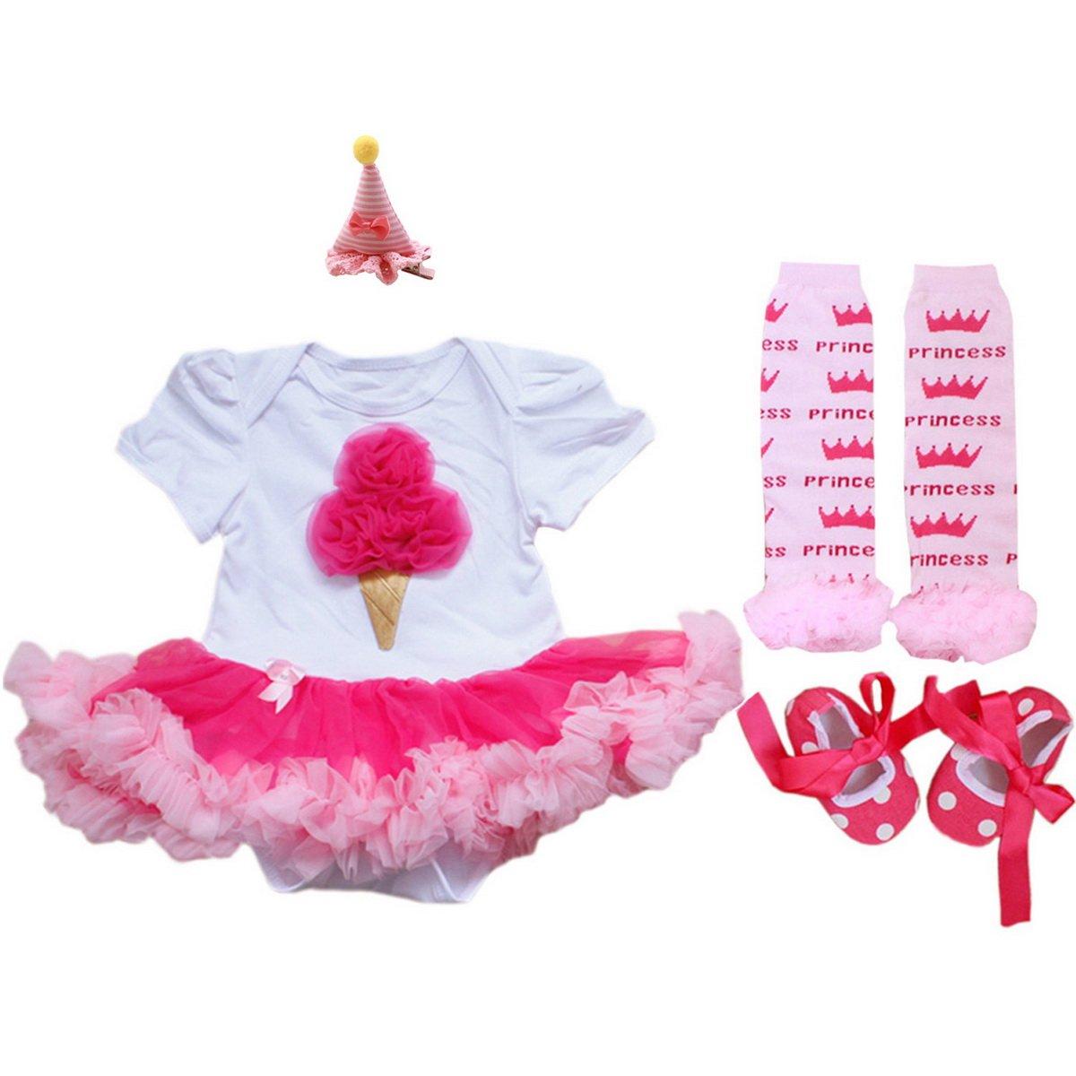 aozky® Bebé Niña Recién Nacido Primera Disfraces de Papá Noel ...