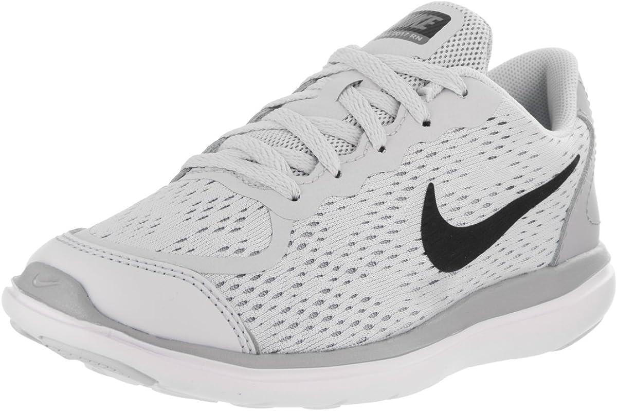 NIKE Nike Flex 2017 RN (PS) Las Zapatillas de Running 11.5 de EE.UU. Bebé niño Pure Platinum/Negro Lobo Gris 11.5 M US Poco Kid: Amazon.es: Zapatos y complementos