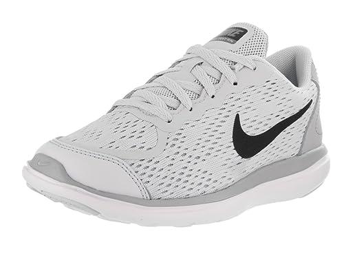 a2d993114069 Nike Kids Flex 2017 Rn (PS) Pure Platinum Black Wolf Grey Running Shoe
