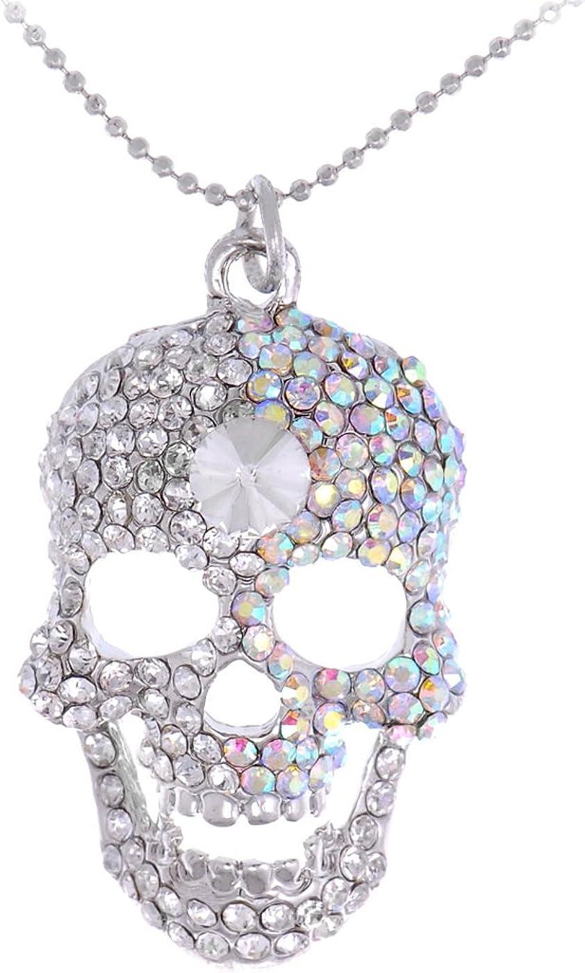 Free Shipping BoHo Necklace Pirate Skulls Necklace Halloween Necklace Skulls Necklace