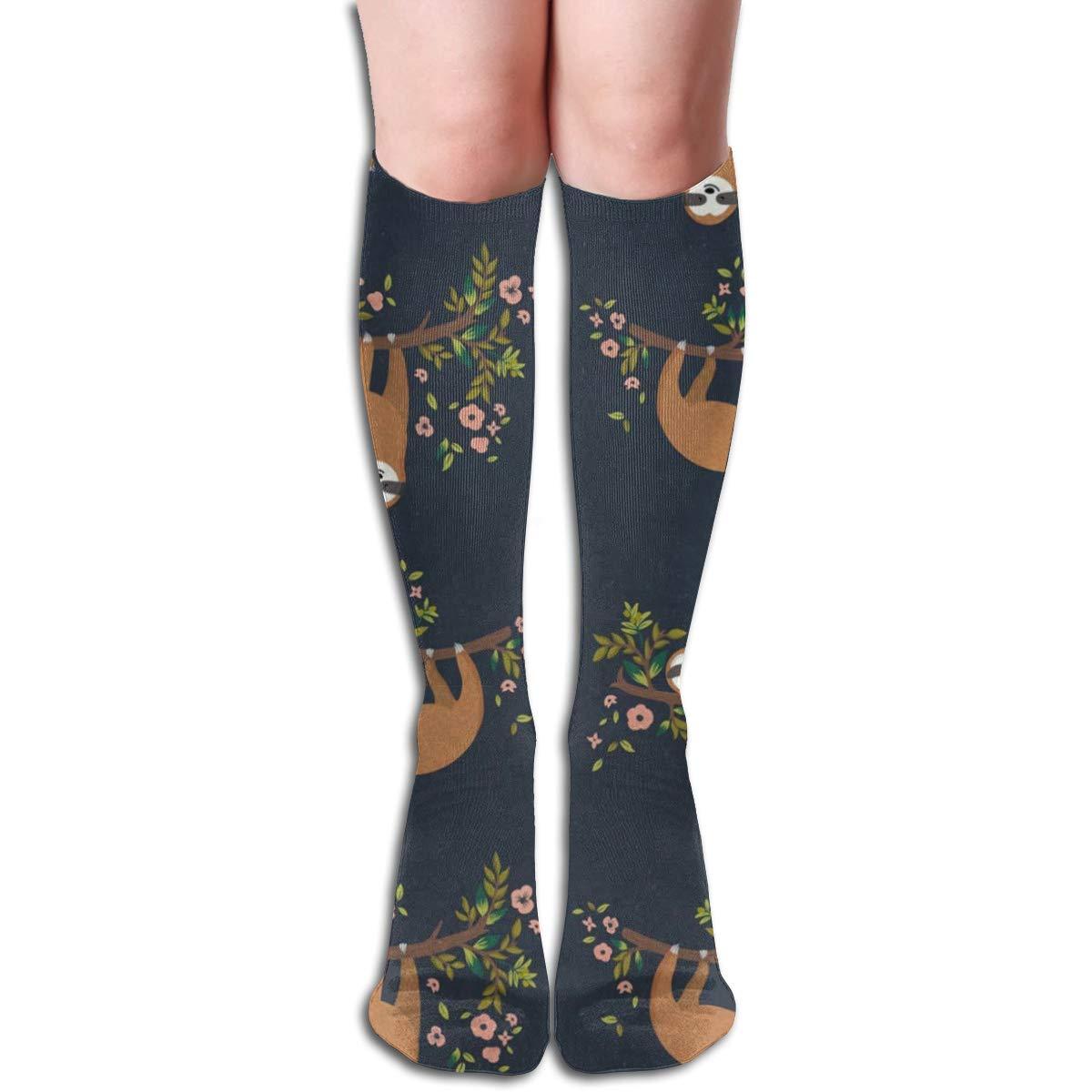 Girls Socks Over Knee Baby Sloth Flowers Winter Warmth Marvellous For Easter