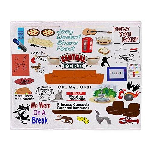 CafePress Friends TV Show Collage Soft FleeceThrow Blanket 50