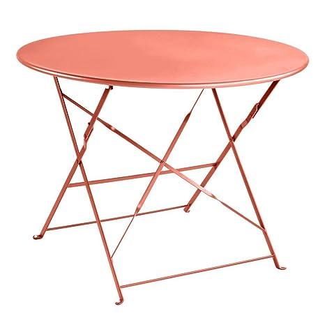 Truffaut : Table Ronde En Acier D.95cm : Brique: Amazon.fr ...