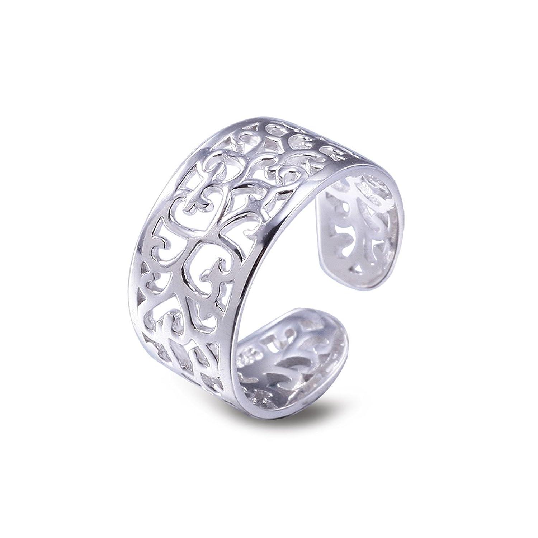 Gold toe rings for women - Toe Rings For Women Sterling Silver Adjustable Open Rings Tail Ring Viki Lynn