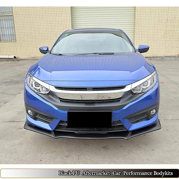 Amazon.com: MCARCAR KIT For Honda Civic 10th Sedan 4Door 2016 2017 Factory Unpainted PU Front Bumper Lip Chin Spoiler: Automotive
