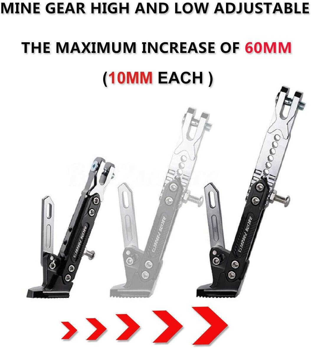 GG Boom CNC Aluminum Alloy Adjustable Kickstand Foot Side Stand for Motorcycle Universal
