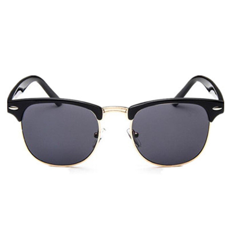 Amazon.com: Half Metal Bamboo Sunglasses Men Women Glasses ...