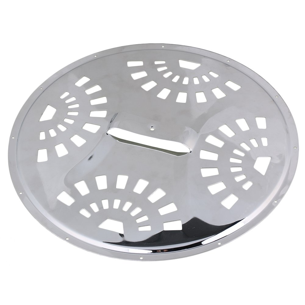 BQLZR 28x1.88mm Silver Iron Spider Type Resonator Dobro Guitar Cover Plate for Guitar Maker N21776