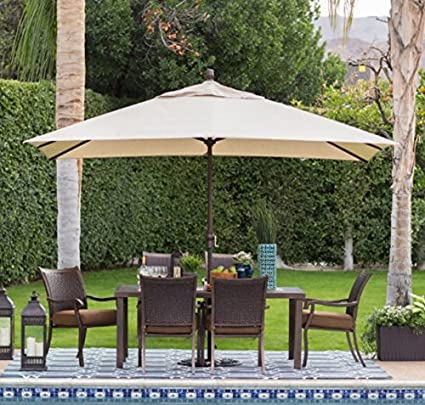 Offset Patio Umbrella,Large Outdoor Umbrella, Sun Shades For Patios,8 X 11