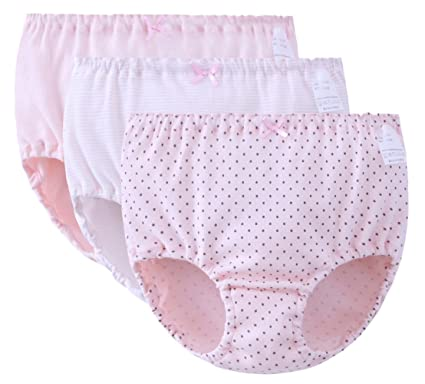 0fbc1fd14eff38 FEOYA Baby Girls Knickers Potty Training Pants Reusable Underwear Cotton  Nappy Cover